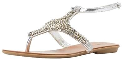 ZiGiny Women's Peppy Sandal,Silver,6 M US