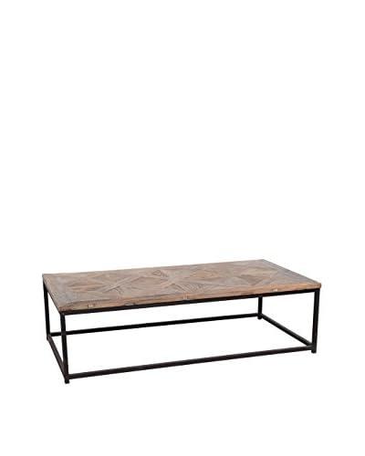 Tottenham Court Joli Coffee Table, Natural Elm/Antiqued Iron
