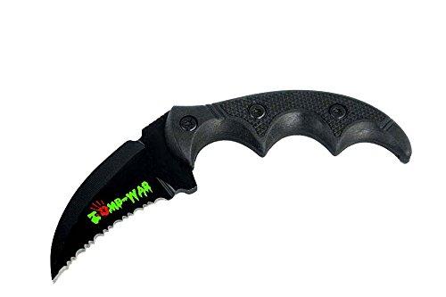 "5.75"" Zomb-War Boot Skinner Sharp Blade Knife with Sheath (Black)"