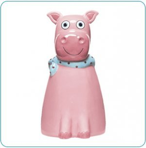 Tiny Tillia By Avon Ceramic Piggy Bank - Dilly Pig