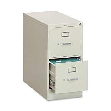 """HON 310 Series Vertical Files w/Locks-2 Drawer File, Vertical, Letter, 15""""x26-1/2""""x29"""", Putty"""
