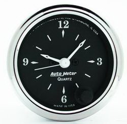 Auto Meter 1785 Old Tyme Black Clock