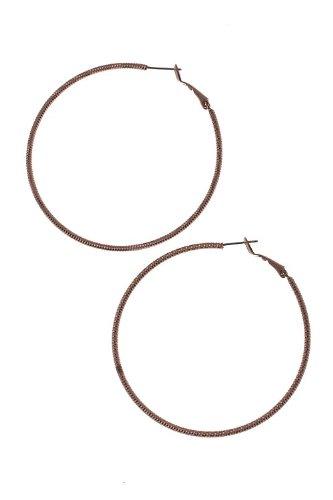 Karmas Canvas Metal Hoop Earrings (Bronze)