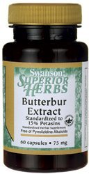 Butterbur Extract 75 mg (120 Capsules)