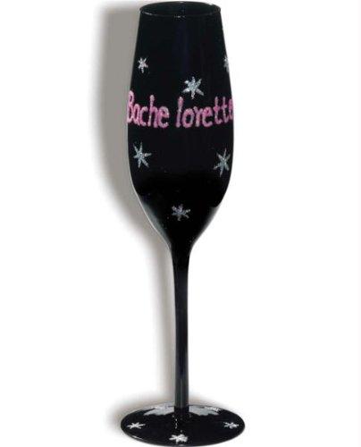 Forum Novelties 66338 Bachelorette Party Black Champagne Flute