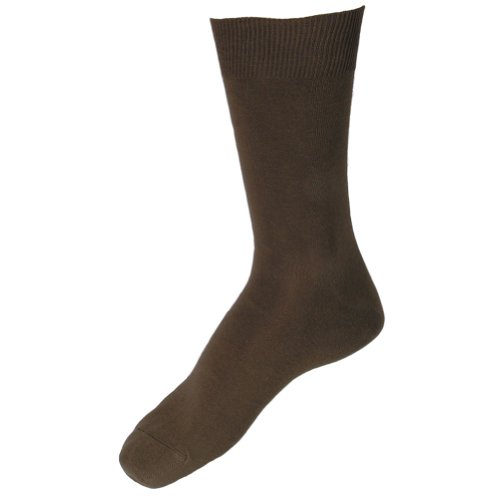 Sok Men'S Extra Large And Wide Thin Loose Cuff Walnut Brown Socks 2 Pairs Sizes: 12 - 14