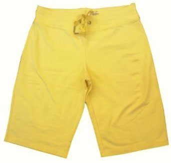 Women's Calvin Klein Sweatpant Bermuda Shorts (Yellow, Medium)