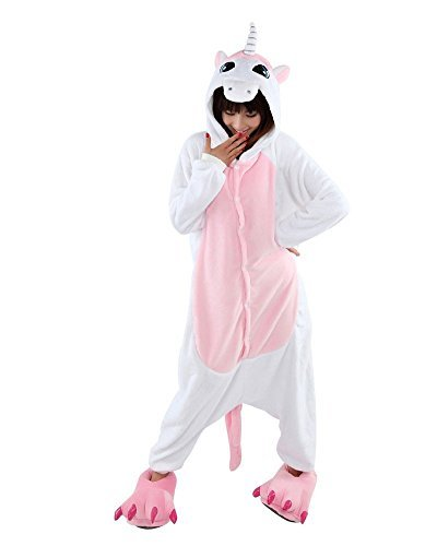 Yimidear® Unisex Pigiama Adulto Animale Cosplay Halloween Costume Attrezzatura (Pink Unicorn, S)