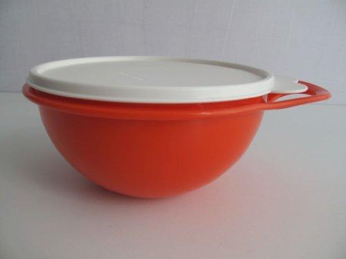 TUPPERWARE Schüssel Rührschüssel 1,4 L Rot orange mit Deckel Salatbar Max
