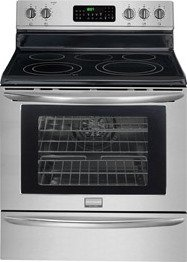 """Frigidaire Gallery Series Fgef3055Mf 30"""" Freestanding Electric Range With 5 Radiant Elements, 5.8 Cu. Ft. True Convection Oven, Self-Clean, Storage Drawer, Temperature Probe, In Smudge-Proof Stainless Steel"""