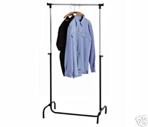 adjustable and foldable garment clothes rail. Black Bedroom Furniture Sets. Home Design Ideas