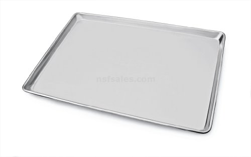 New Star Foodservice 36756 Heavy Duty Aluminum Sheet Pan, 16 Gauge, 18