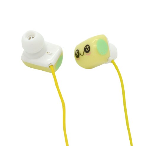 Lovely Pillow Headset In-Ear Earphone Mp3 Stereo For Ipod Iphone Yellow