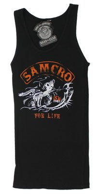Samcro For Life - Sons Of Anarchy Women's Tank Top: Junior Small - Black