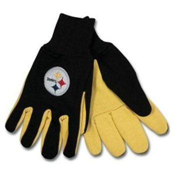 Pittsburgh Steelers Two-Tone Gloves (One Size Fits Most) by McArthur
