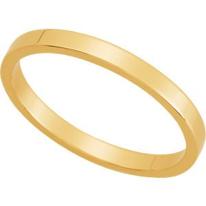 Genuine IceCarats Designer Jewelry Gift 10K Yellow Gold Wedding Band Ring Ring. 02.00 Mm Flat Band In 10K Yellowgold Size 5.5