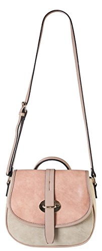 diophy-high-quanlity-pu-leather-three-tone-cross-body-saddle-bag-accented-with-top-handle-womens-pur