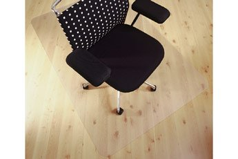 Polycarbonate Chair Mat for Hard Floors Rectangular 90x120cm. Clear. Delivered Free with a 100% Satisfaction Guarantee by Mats4U.