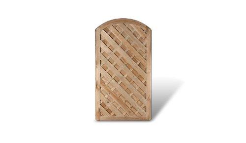 diagonal lamellenzaun gartent r ma 100 x 180 auf 160 cm breite x h he mit bogenverlauf aus. Black Bedroom Furniture Sets. Home Design Ideas