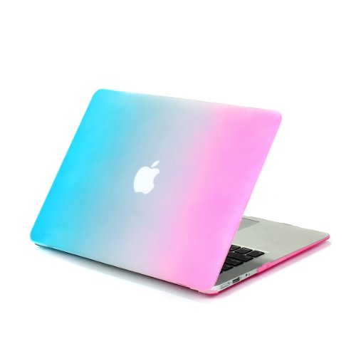 "Smart Tech ® Air 11-Inch Crystal Clear Rubberized Hard Case Cover For Apple Macbook Air 11.6"" (Models: A1370 And A1465) (Rainbow) front-622519"