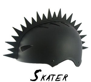 Bmx Snowboarding Ski Helmet Mohawk Peel and Stick Helmets Mohawks (Helmet Not Included)