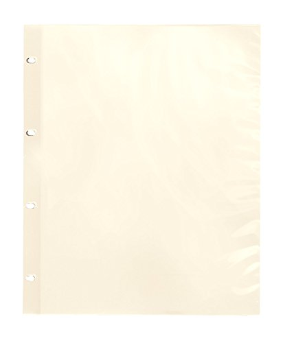 Oversize Album Pages Sheet Protectors Ivory (Mylar Sheet Protectors compare prices)