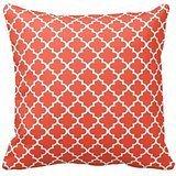 Orange Rot und Weiß Deko Kissen werfen Kissen Fall Marokkanische Vierpass-Muster Print Quadratisch ZWEI Seiten 40,6x 40,6cm