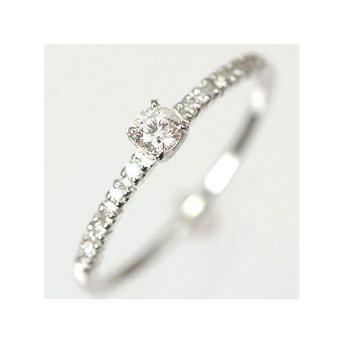 [キュートジュエリー]Cute jewerly ダイヤモンド 指輪 天然ダイヤ0.15ct×ホワイトゴールド エレガンスリング 7
