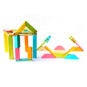 Tegu Crab and Crabshack - 40 Piece Magnetic Wooden Blocks Set