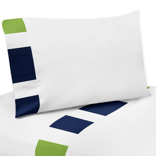 Navy And White Striped Bedding 7282 front