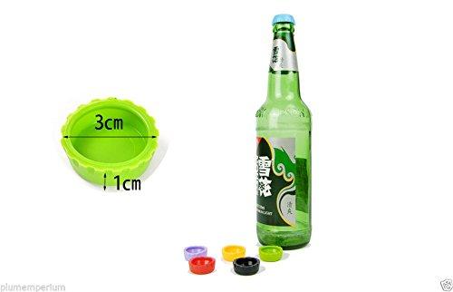 Beer saver = 6 couleurs différentes en silicone en forme de capsule de bouteille pour la bière, vin, les boissons non alcoolisées, saft.-pour le barbecue extérieur qu'à l'intérieur de l'appareil.