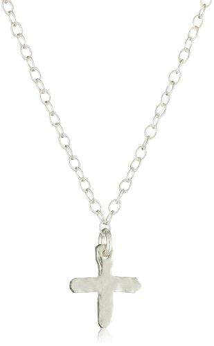 gorjana Silver Cross Over Necklace
