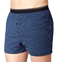 XXXL 3 Pack Cool & Fresh™ Pure Cotton Fine Striped Boxers with StayNEW™