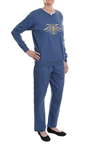 Pembrook Women's Embroidered Fleece Sweatsuit Set- L -Deep ...