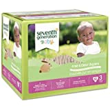 Seventh Generation Free and Clear Stage 3 Baby Diaper - 62 per pack -- 1 each.