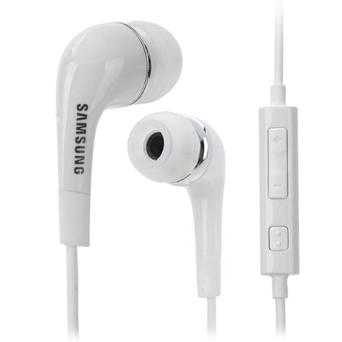 Generic Samsung Ehs64A Stereo Earphones W/ Mic + Volume Control For Galaxy Note 2 - White