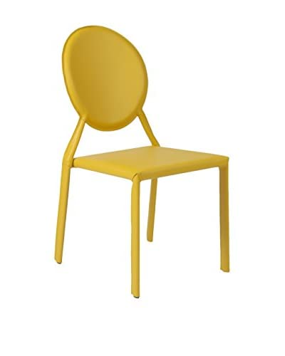 Eurostyle Isabella Side Chair, Yellow