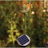Red Robin Garden Bird Solar Light. Lovely Gift Ornament