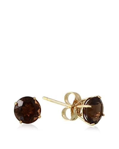 Fashion Strada 14K Yellow Gold & Topaz Stud Earrings