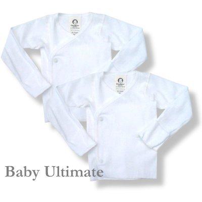 Gerber Brand White 2pk Long Sleeve Side Snap Shirt