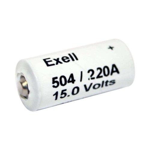 Exell Battery A220/504A 15-Volt Alkaline Battery (White)