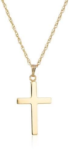 "14k Gold-Filled Polished Cross Pendant Necklace, 18"""