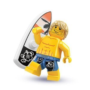 LEGO-Minifigure-Collection-Series-2-LOOSE-Mini-Figure-Surfer-Dude