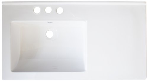 American Imaginations 408 34-Inch by 18-Inch White Ceramic Top with 8-Inch Centers
