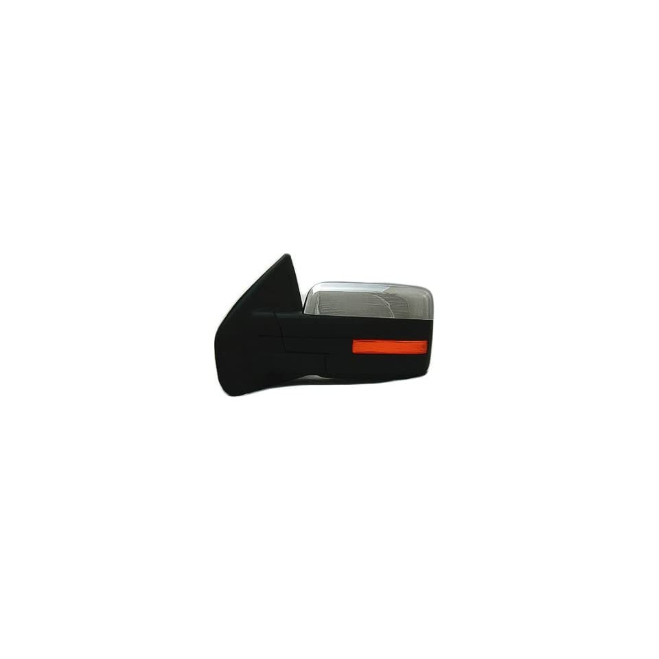 DRIVER SIDE DOOR MIRROR Ford F 150, Ford F 250, Ford F 350, Ford F 450 POWER WITH HEATED GLASS; CHROME; WITH MEMORY AND TURN SIGNAL; WITHOUT AUTO DIMMING GLASS; WITHOUT PUDDLE