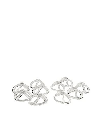 Uptown Down Set of 10 Vintage Napkin Rings, Clear