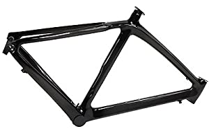 JRFOTO Carbon Fiber Bicycle Frame 3k All Carbon Fiber 700C Road Bike Frame Model RB-RST10 54CM
