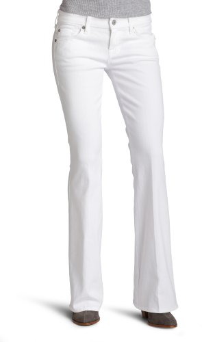"""7 For All Mankind Women's Petite Lexie """"A"""" Pocket Flare Jean in Clean White, Clean White, 29"""