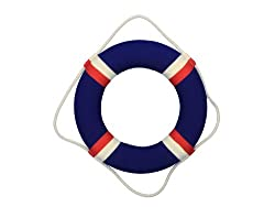 Handcrafted Nautical Decor Decorative Patriotic Lifering, 20