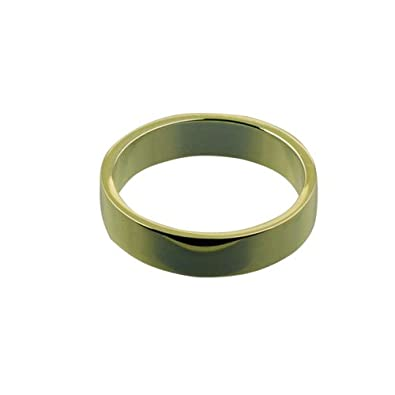 18ct Yellow Gold 5mm plain Flat Wedding Ring Sizes Q to Z